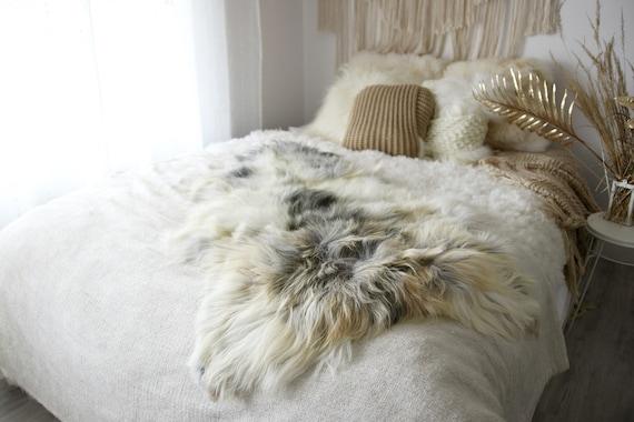 Real Icelandic Sheepskin Rug Scandinavian Decor Sofa Sheepskin throw Chair Cover Natural Sheep Skin Rugs Gray Gold Fur Rug #Dziatisl8