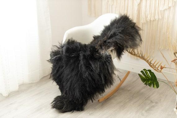 Real Icelandic Sheepskin Rug Scandinavian Decor Sofa Sheepskin throw Chair Cover Natural Sheep Skin Rugs Gold Black Fur Rug #Urisl15