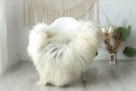 Real Icelandic Sheepskin Rug Scandinavian Decor Sofa Sheepskin throw Chair Cover Natural Sheep Skin Rugs Gray White Fur Rug #Urisl34