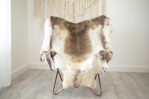 EXTRA LARGE Reindeer Hide | Reindeer Rug | Reindeer Skin | Throw XXL  - Scandinavian Style Christmas Decor Brown White Hide #Reindeer68