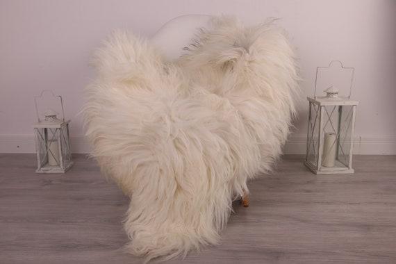 Real Icelandic Sheepskin Rug Scandinavian Decor Sofa Sheepskin throw Chair Cover Natural Sheep Skin Rugs White Gray Blanket Fur Rug #kefisl4