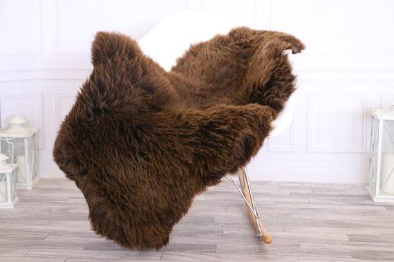 Sheepskin Rug | Real Sheepskin Rug | Shaggy Rug | Chair Cover | Sheepskin Throw | Brown | CHRISTMAS DECOR | #LISHER20