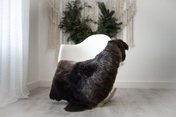 Real Sheepskin Rug Shaggy Rug Chair Cover Scandinavian Home Sheepskin Throw Sheep Skin Gray Brown Sheepskin Home Decor Rugs #herdwik361