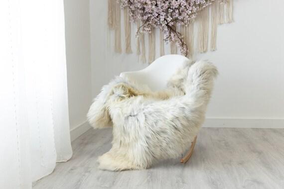 Real Sheepskin Rug Shaggy Rug Chair Cover Scandinavian Home Sheepskin Throw Sheep Skin White Gray Sheepskin Home Decor Rugs #herdwik220