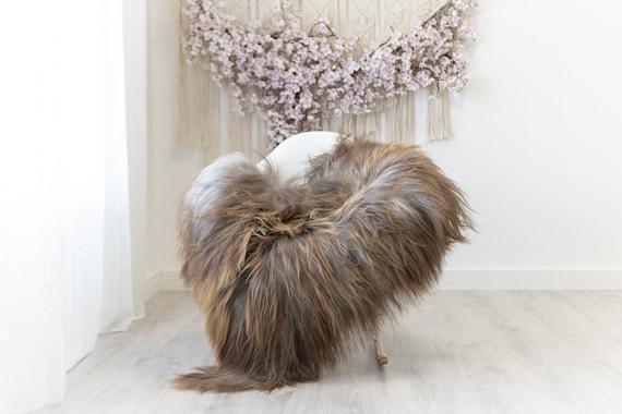 Real Icelandic Sheepskin Rug Scandinavian Home Decor Sofa Sheepskin throw Chair Cover Natural Sheep Skin Rugs Gray Brown #Iceland309