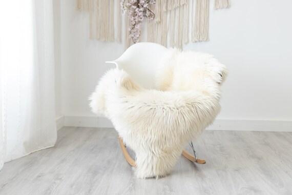Real Sheepskin Rug Shaggy Rug Chair Cover Scandinavian Home Sheepskin Throw Sheep Skin Brown White Sheepskin Home Decor Rugs #herdwik197