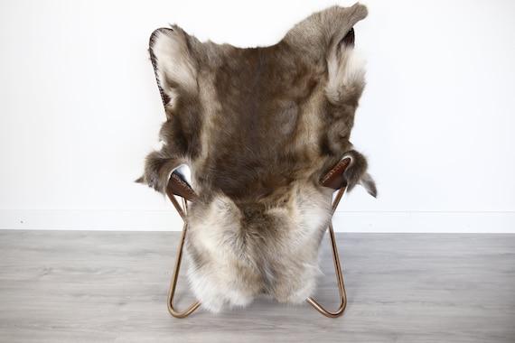 Reindeer Hide | Reindeer Rug | Reindeer Skin | Throw XXL EXTRA LARGE - Scandinavian Style Christmas Decor Brown Hide #Ire3
