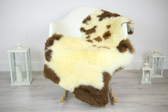Sheepskin Rug | Real Sheepskin Rug | Shaggy Rug | Chair Cover | Sheepskin Throw | Brown  Sheepskin | Home Decor | #JAC15