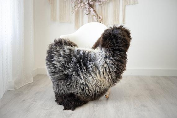 Real Sheepskin Rug Shaggy Rug Chair Cover Scandinavian Home Sheepskin Throw Sheep Skin Gray Brown Sheepskin Home Decor Rugs #herdwik259