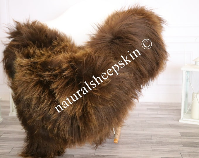 Icelandic Sheepskin | Real Sheepskin Rug | Sheepskin Rug Brown | Fur Rug | Homedecor #MAYISL11