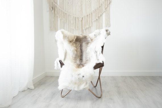 Reindeer Hide | Reindeer Rug | Reindeer Skin | Throw XXL EXTRA LARGE - Scandinavian Style Christmas Decor Brown White Hide #Reindeer88