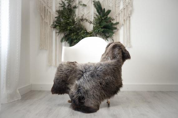 Real Sheepskin Rug Shaggy Rug Chair Cover Scandinavian Home Sheepskin Throw Sheep Skin Brown Gray Sheepskin Home Decor Rugs #herdwik368