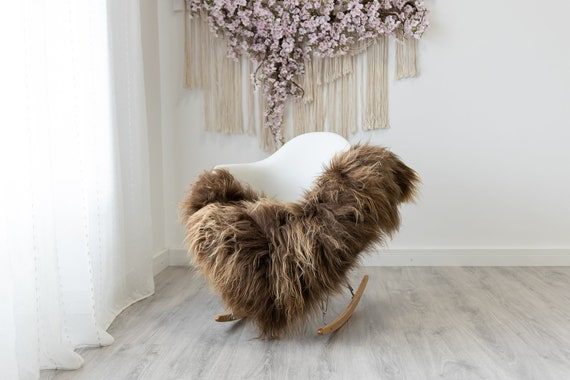 Real Icelandic Sheepskin Rug Scandinavian Home Decor Sofa Sheepskin throw Chair Cover Natural Sheep Skin Rugs Brown #Iceland319