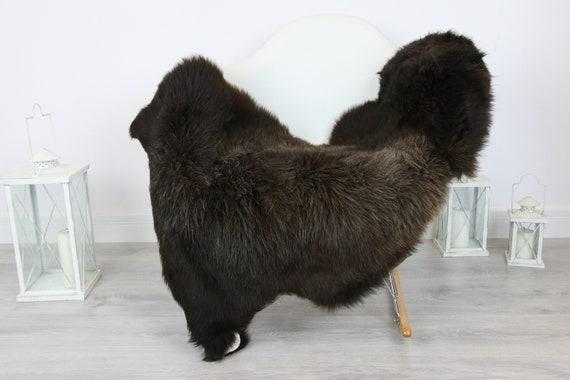 Sheepskin Rug | Real Sheepskin Rug | Shaggy Rug | Scandinavian Rug | Sheepskin Throw Brown Sheepskin | SCANDINAVIAN DECOR | #5HER26