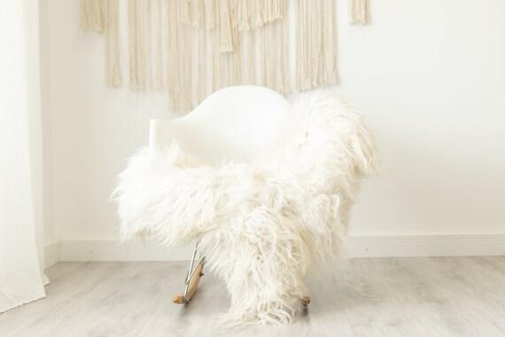 Real Icelandic Sheepskin Rug Scandinavian Home Decor Sofa Sheepskin throw Chair Cover Natural Sheep Skin Rugs Ivory #Iceland503