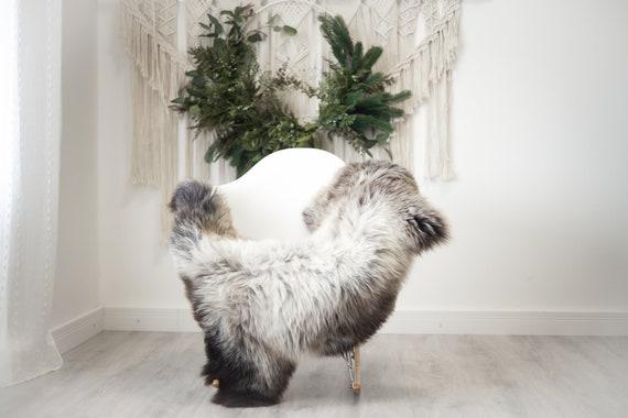 Real Sheepskin Rug Shaggy Rug Chair Cover Scandinavian Home Sheepskin Throw Sheep Skin Brown White Sheepskin Home Decor Rugs #herdwik374