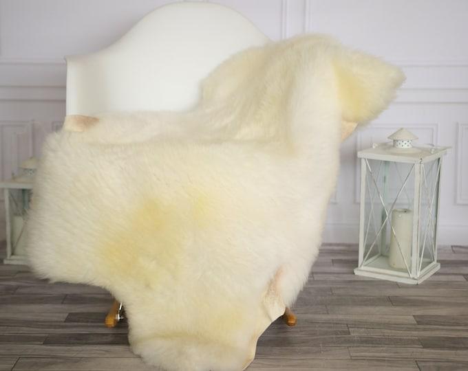 Sheepskin Rug | Real Sheepskin Rug | Shaggy Rug | Chair Cover | Sheepskin Throw | Beige Sheepskin | Home Decor | #HERMAJ57