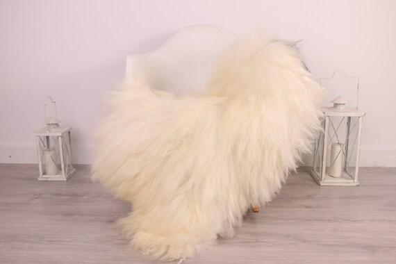 Real Icelandic Sheepskin Rug Scandinavian Decor Sofa Sheepskin throw Chair Cover Natural Sheep Skin Rugs Black White Blanket Fur Rug #Am13