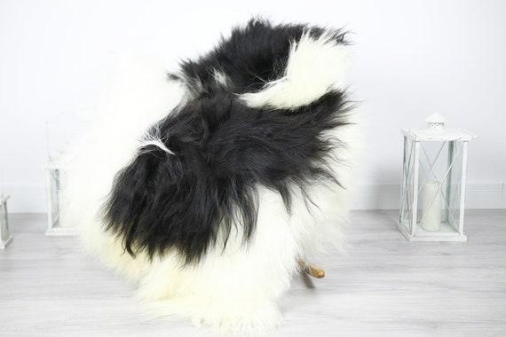 Icelandic Sheepskin | Real Sheepskin Rug | Sheepskin Rug Ivory Black | Fur Rug | Homedecor #3Isl20