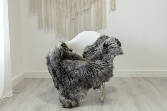 Real Sheepskin Rug Shaggy Rug Chair Cover Scandinavian Home Sheepskin Throw Sheep Skin White Gray Sheepskin Home Decor Rugs #Gut65