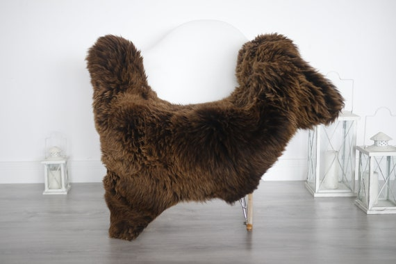 Real Sheepskin Rug Shaggy Rug Chair Cover Sheepskin Throw Sheep Skin White Brown Sheepskin Home Decor Rugs #6her10