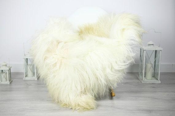 Icelandic Sheepskin | Real Sheepskin Rug | Sheepskin Rug White Beige | Fur Rug | Homedecor #3Isl10