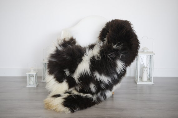 Real Sheepskin Rug Shaggy Rug Chair Cover Sheepskin Throw Sheep Skin Brown White Sheepskin Home Decor Rugs #6her34