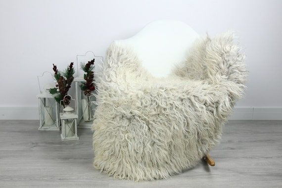 Organic Sheepskin Rug, Real Sheepskin Rug, Curly Sheepskin, Gray Beige Sheepskin Rug Christmas Home #CURLGUT20