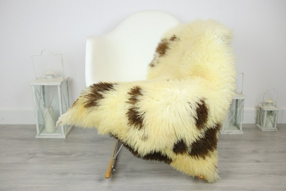 Genuine Rare Tuscan Lamb Sheepskin Rug - Curly Fur Rug - Natural Sheepskin - Ivory Sheepskin | Small Sheepskin #3MARGOT6