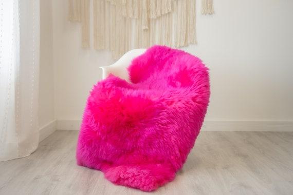 Real Sheepskin Rug Shaggy Rug Chair Cover Scandinavian Home Sheepskin Throw Sheep Skin Pink Sheepskin Home Decor Rugs #herdwik330