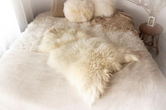 Real Sheepskin Rug Shaggy Rug Chair Cover Sheepskin Throw Sheep Skin Ivory Brown Sheepskin Home Decor Rugs #KWAHER7