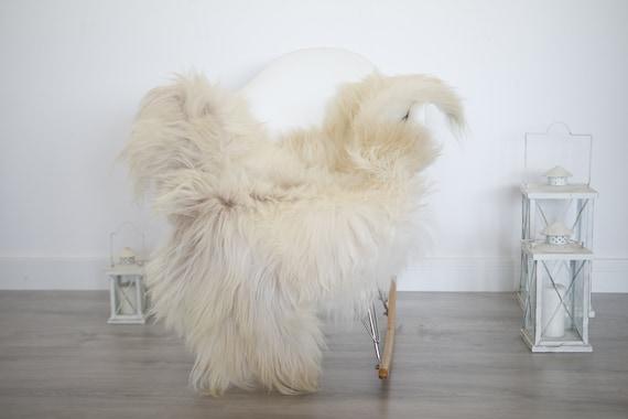 Real Icelandic Sheepskin Rug Scandinavian Decor Sofa Sheepskin throw Chair Cover Natural Sheep Skin Rugs Ivory Blanket Fur Rug #isleb42