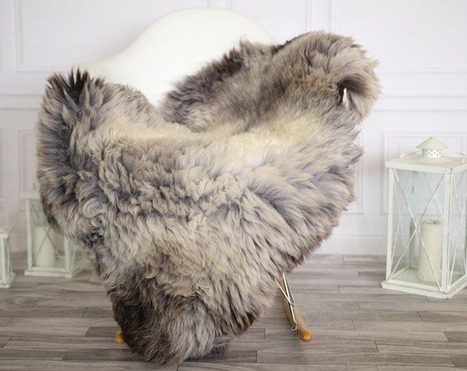 Sheepskin Rug | Real Sheepskin Rug | Shaggy Rug | Chair Cover | Sheepskin Throw | Gray Beige Sheepskin | Home Decor | #HERMAJ54