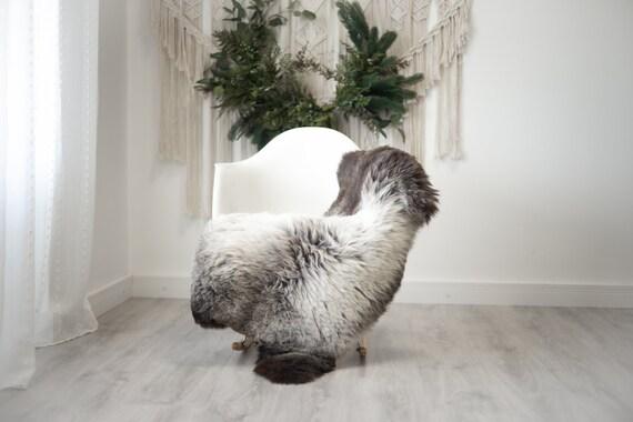 Real Sheepskin Rug Shaggy Rug Chair Cover Scandinavian Home Sheepskin Throw Sheep Skin Brown Gray Sheepskin Home Decor Rugs #herdwik369