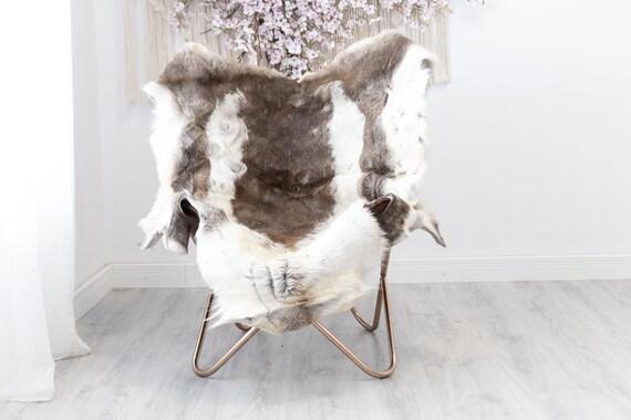 Reindeer Hide | Reindeer Rug | Reindeer Skin | Throw XXL EXTRA LARGE - Scandinavian Style Christmas Decor Brown White Hide #Reindeer46
