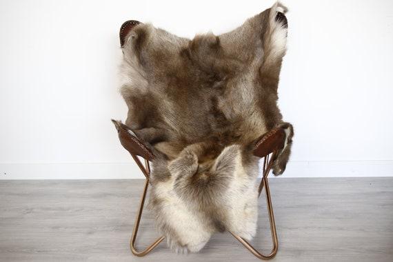 Reindeer Hide | Reindeer Rug | Reindeer Skin | Throw XXL EXTRA LARGE - Scandinavian Style Christmas Decor Brown Hide #Ire14