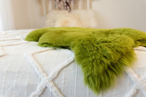 Genuine Natural Green Sheepskin Rug Sheepskin Throw Scandinavian Style | Scandinavian Rug | Sheep Skin -  WHOLESALE PACK 10 PIECES