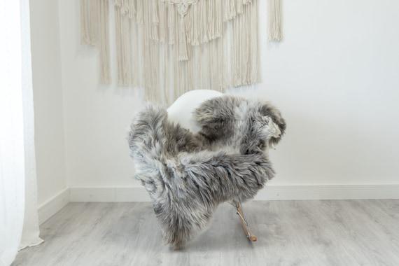 Real Sheepskin Rug Shaggy Rug Chair Cover Scandinavian Home Sheepskin Throw Sheep Skin White Gray Sheepskin Home Decor Rugs #Gut57
