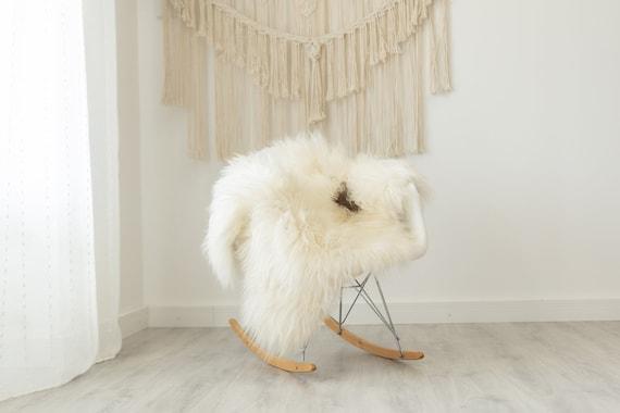 Real Icelandic Sheepskin Rug Scandinavian Decor Sofa Sheepskin throw Chair Cover Natural Sheep Skin Rugs Brown Ivory #Iceland379
