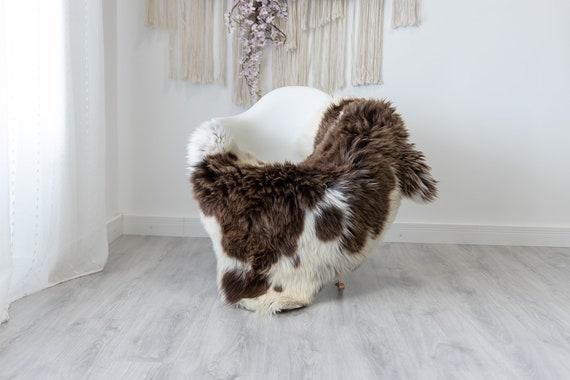 Real Sheepskin Rug Shaggy Rug Chair Cover Scandinavian Home Sheepskin Throw Sheep Skin White Brown Sheepskin Home Decor Rugs #herdwik189