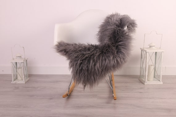 Real Icelandic Sheepskin Rug Scandinavian Decor Sofa Sheepskin throw Chair Cover Natural Sheep Skin Rugs Gray Blanket Fur Rug #kefisl18