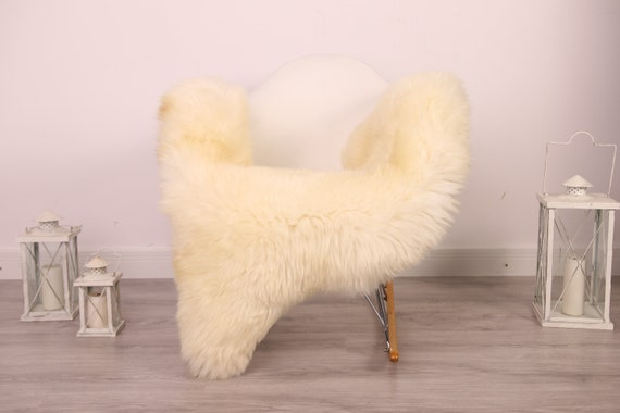 Real Sheepskin Rug Shaggy Rug Chair Cover Sheepskin Throw Sheep Skin White Sheepskin Home Decor Rugs #8her17