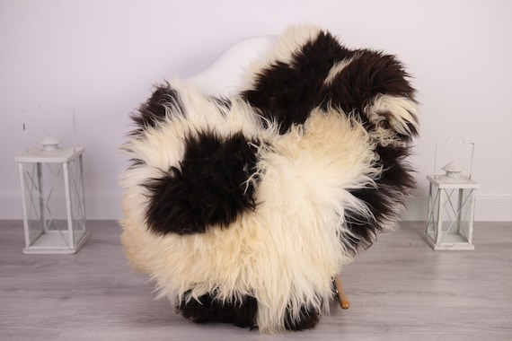 Real Sheepskin Rug Shaggy Rug Chair Cover Sheepskin Throw Sheep Skin Brown Sheepskin Home Decor Rugs #HERDZ24