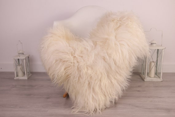 Real Icelandic Sheepskin Rug Scandinavian Decor Sofa Sheepskin throw Chair Cover Natural Sheep Skin Rugs White Ivory Blanket Fur Rug #Am27