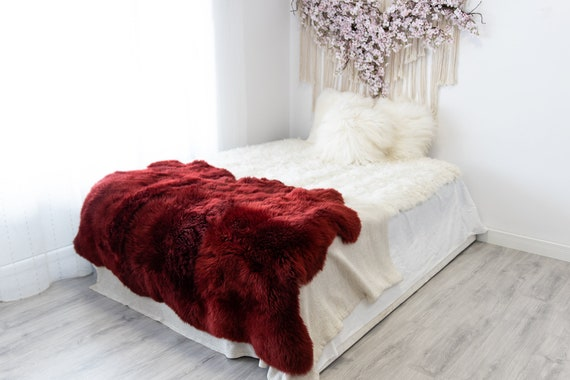 Triple Vine Merino Sheepskin Rug | Long rug | Shaggy Rug | Chair Cover | Area Rug | Vine Rug | Carpet Vine Sheepskin Merino Vine Sheep skin