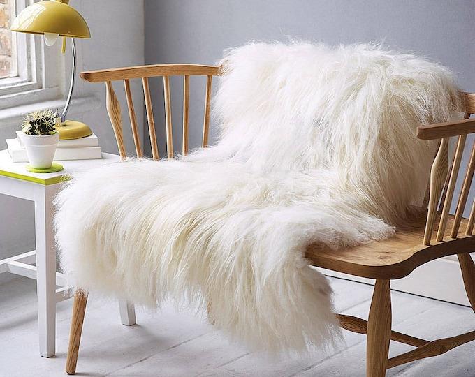 Creamy White Real Icelandic Sheepskin Rug Home Decor