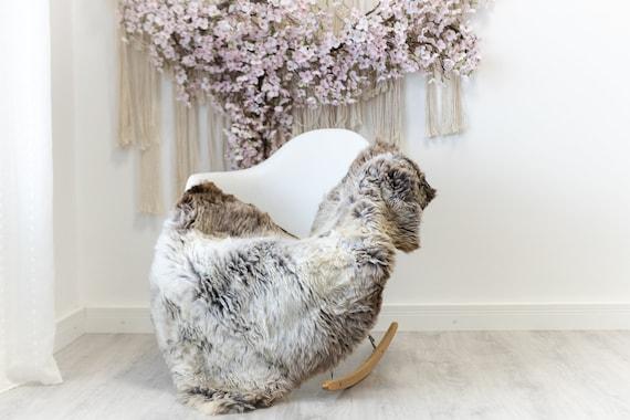 Real Sheepskin Rug Shaggy Rug Chair Cover Scandinavian Home Sheepskin Throw Sheep Skin Brown Gray Sheepskin Home Decor Rugs #herdwik119