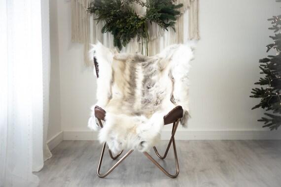 Reindeer Hide   Reindeer Rug   Reindeer Skin   Throw XXL EXTRA LARGE - Scandinavian Style Christmas Decor Brown White Hide #Reindeer96