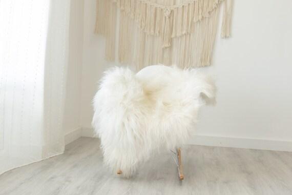 Real Icelandic Sheepskin Rug Scandinavian Decor Sofa Sheepskin throw Chair Cover Natural Sheep Skin Rugs White Ivory #Iceland373