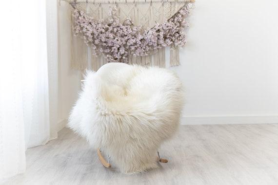 Real Icelandic Sheepskin Rug Scandinavian Decor Sofa Sheepskin throw Chair Cover Natural Sheep Skin Rugs Ivory White #Iceland291